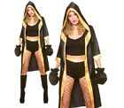 Ladies KNOCKOUT BOXER + Gloves Boxing Sexy Fancy Dress Costume Champion Robe