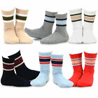 Внешний вид - TeeHee Kids Boys Basic Stripe Cotton Crew Socks 6 Pair Pack (Sport Rib Stripe)