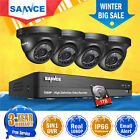 SANNCE 4CH 1080P 5IN1 DVR 4X2MP Dome CCTV Outdoor Security Camera System 1TB HDD