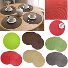 Fine Holiday Christmas Round Woven Table Pads Placemats PP Waterproof Cloth Mats