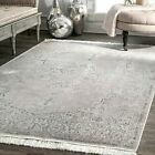 nuLOOM NEW Traditional Vintage Medallion Fringe Area Rug in Silver Gray