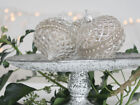 WEDDING   TREE DECORATIONS HEART STAR ANTIQUE GLASS BAUBLE FRENCH ANTIQUE