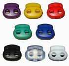 CA-S024 50 pcs 8 Color Choose Cord Lock Toggles Bean Two Hole Double Stops