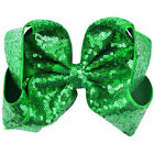 8 inch Big Large Sequin Hair Bow Alligator Clips Headwear Girls Hair Accessories