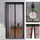 Magic Mesh Hands-Free Screen Door with Magnets Anti Mosquito Bug Curtain Black T