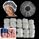 US Lots Disposable One-off Hotel Home Shower Bathing Flower Hair Elastic Cap Hat