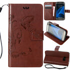 For Samsung Galaxy Phones Thin Hybrid Leather Wallet Flip Pattern Credit Case