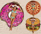 Holiday Beach Scarf Round Pizza Pool Towel Sunscreen Yoga Soft Shawl Blanket