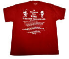 Mens Star Trek 10 Reasons Why Kirk is Better Than Picard Shirt NWT M, XL, 2XL