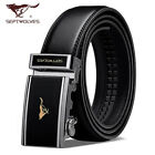 "Top New Men's Belts Genuine Leather Wolf Totem Fine black Waist 30""-45"""