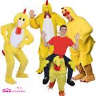 ADULT CHICKEN BIRD ANIMAL EASTER MENS LADIES FARMYARD FANCY DRESS MASCT COSTUME