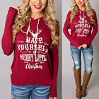 UK Womens Hoodie Sweatshirt Long Sleeve Sweater Blouse Jumper Pullover Tops Coat
