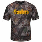 """Pittsburgh Steelers Majestic NFL """"The Woods"""" Men's Camo Short Sleeve T-Shirt"""