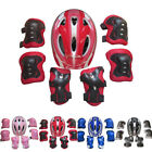 KIDS BOYS GIRLS CHILDS Helmet & Knee & Elbow Pad Set Cycling Skate Safety Sports