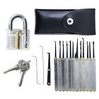 Transparent Practice Padlocks +12pcs Unlocking Lock Pick Set Key Extractor