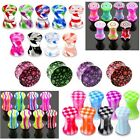 Ear Plug Double Flare - Stretcher Flesh Tunnel Flared Expander CHOICE OF DESIGNS