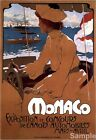 Vintage Monaco Exposition Italian Travel Advertising Poster Print Picture A3 A4