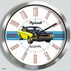 PLYMOUTH DUSTER METAL WALL CLOCK choice of 4 models 1970 1971 1972 1973 1974