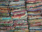 Reversible Kantha Lot Twin Quilt Indian Vintage Handmade Blanket Throw Patchwork