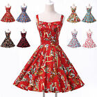 Vintage Swing Pinup Retro Housewife Backless Dance Party Polka Dot Short Dresses
