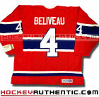 JEAN BELIVEAU MONTREAL CANADIENS CCM VINTAGE AWAY JERSEY RED NHL HOCKEY