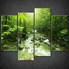 STREAM IN GREEN FOREST CANVAS PRINT PICTURE WALL ART FREE FAST DELIVERY