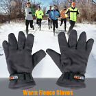 Men's Winter Warm Fleece Outdoor Sports Gloves Mittens Thermal Insulated Strap