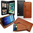 Brown Leather Wallet Phone case with Pull out card Holder Money Slot & Photo