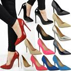 Womens Ladies Black High Heel Court Shoes Smart Formal Occasion Party Size New