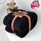 NEW LUXURY TEDDY BEAR THROW SUPER SOFT FLEECE BLANKET THROW SOFA BED DOUBLE KING