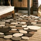 nuLOOM Handmade Contemporary Modern Wool Pebble Area Rug in Natural Brown