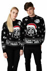 Unisex Ladies Men Knitted Xmas JUMPER STAR WARS Vintage DARTH VADER S-4XL