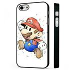 Super Mario Nintento Art Videogame BLACK PHONE CASE COVER fits iPHONE