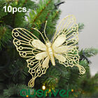 10x Christmas Handmade Butterfly Decoration Wedding Xmas Tree Hanging Ornaments