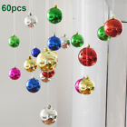 Christmas Baubles Ball Plain Glitter Ornament Xmas Tree Hanging Party Decoration