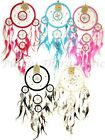 BEADED SHELL FLOWER Dream Catcher~52cm Long-Mobile Wall Hanging American Indian