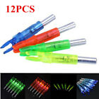 12X Colorful Hunting Lighted Nock Led Lighted Luminous Tail Arrow Nocks ID 6.2mm