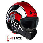 Casque Moto/scooter Modulable Roof RO5 Boxer V8 Grafic Noir/Rouge Brillant