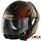 Casque Modulable Convertible Shark Evoline 3 Mezcal Noir/Orange Chrome KUO