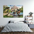 Dinosaurs World Poster Self Adhesive Wall Sticker Art Decal Mural