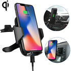Qi Wireless Car Fast Charger Phone Mount Holder for iPhone 8 X Samsung Galaxy S9 <br/> Free 30 day returns | USA Seller | FAST Free Shipping