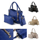 3pcs Women Leather Handbag Lady Shoulder Bags Tote Purse Messenger Satchel Set