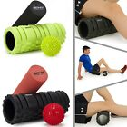 2 in 1 Foam Roller Exercise High Density Trigger Point Grid Muscle Massage Ball