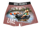 Mens Boxers Shorts Funny Underwear RELAXING BY THE LAKE LIFE Soft Silky Gift
