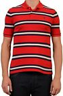 POLO By RALPH LAUREN Red Striped Cotton Polo Shirt EU 52 14-16 NEW US L