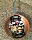 "Red Copper Frying Pan 8"" 10"" 12"" Inch Ceramic Nonstick As Seen On TV - NEW"