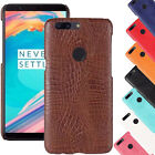 For One Plus 5T Crocodile Skin Pattern Leather Back Soft Ultra Thin Case Cover