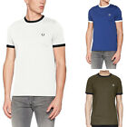 Fred Perry Men's T-Shirt Ringer Mens Tee Shirt Top Designer Authentic RETRO