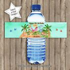DINOSAUR WATER COLOUR BIRTHDAY PARTY PERSONALISED WATER BOTTLE LABELS x 5