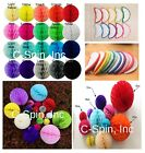 20Colors 4' 8' 12' HoneyComb Tissue Paper Ball Lantern Pom Poms Wedding Birthday